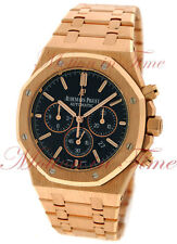 Audemars Piguet Royal Oak Chrono 41mm Rose Gold Black Dial 26320OR.OO.1220OR.01