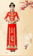 Chinese wedding dress QiPao Kua Kwa cheongsam 33b Special Traditional Quan Kwa