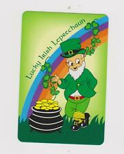 LUCKY LEPRECHAUN X 1  ONLY SINGLE VINTAGE PLAYING/SWAPCARD.TO BE SHURE ..
