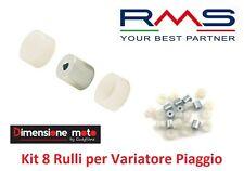 """5527 - KIT 8 Rulli + Semigusci """"RMS"""" per Variatore PIAGGIO Ciao Teen 50 dal 1990"""