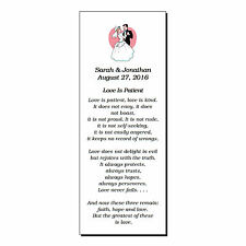 56 Personalized Wedding Bookmarks Party Favor Love Is Patient Corinthians