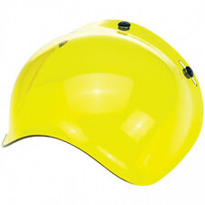 Biltwell Bubble Shield Visor for Bonanza Gringo Motorcycle Helmet - Yellow