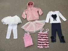 Just Fab Girls 3T Clothing Lot Skirt Leggings Jacket Pants Tulle Ruffles Lace
