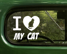 I Love My Cat Decal Sticker for Car, Truck, Laptop, Snowboards, Windows
