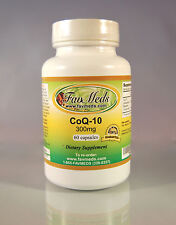 CoQ-10 Q-10 coq10 CO Q10 co-enzyme 300mg, anti-aging - 60 Capsules. Made in USA.