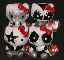 TY LIMITED EDITION HELLO KITTY KISS BEANIE BABY SET of 4 - MINT with MINT TAGS