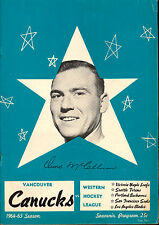 1964 FEB VANCOUVER CANUCKS HOCKEY WHL PROGRAM VS PORTLAND BUCKAROOS UNMARKED