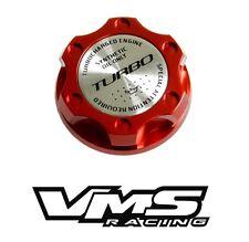RED TURBO BILLET RACING ENGINE OIL FILLER CAP FOR MAZDA