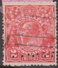 (XS40) 1914 AU 2d red KGV perforated OS NSW (J)