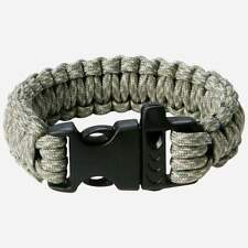 Camo Paracord Survival Wrist Bracelet Buckle Whistle 9in Maxam Outdoor Gear New