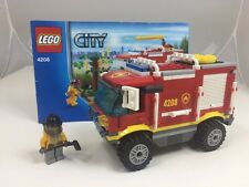 Lego City 4208 Fire Engine Tender With Fireman