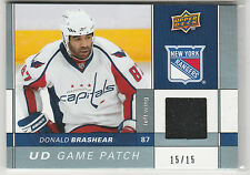 2009 09-10 Upper Deck Game Patches #GJDO Donald Brashear 15/15 Capitals