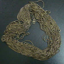 WHOLESALE 60-PSC LOT FASHION JEWELRY HIGH QUALITY SOLID BRASS CHAIN/NECKLACE