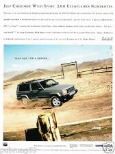Publicité advertising 2000 Jeep Cherokee Wild Sport