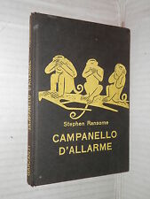 CAMPANELLO D ALLARME Stephen Ransome Garzanti 1961 Serie gialla romanzo libro di