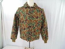 VINTAGE WOOLRICH CAMO WOOL MACKINAW COAT VEST MENS M REMOVABLE SLEEVES