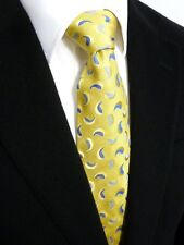 New & Lingwood 100% Yellow Silk Woven Tie Luxury - Handmade in England