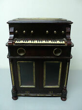 "RARE 19th C. ANTIQUE WOODEN MECHANICAL ""PIANO"" MUSIC BOX / JEWELRY CABINET"