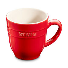 Staub Ceramic Coffee Cup Cocoa cup Tea cup big cup Cherry red 0,35 L
