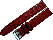 Uhrenarmband Perl Roche Leder Uhrenband watch strap stingray leather red 18mm
