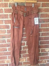 Pete and Greta Sateen Cargo Pants Sable Size 12