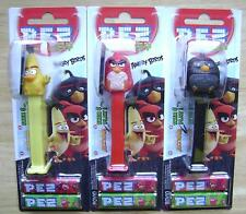 NEW 2016 EUROPEAN PEZ MINT ON CARDS SET OF 3 ANGRY BIRDS MOC