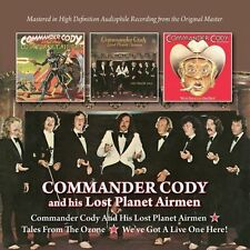 COMMANDER CODY - COMMANDER CODY/TALES FROM THE OZONE/WE'VE GOT A LIVE - 2CD BGO