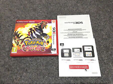 *NO GAME* POKEMON OMEGA RUBY VERSION CASE & LEAFLETS ONLY NINTENDO 3DS 2DS