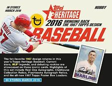 2016 Topps Heritage Complete Base Set 1-425 Free Shipping Pre Sale