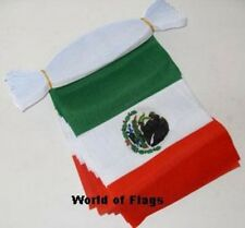 MEXICO FLAG BUNTING Mexican 9m 30 Polyester Fabric Party Flags