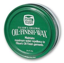 Filson Original Oil Finish Wax 3.75 oz Container - NEW !!!