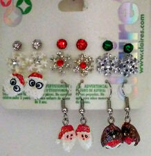 CLAIRE'S CHRISTMAS EARRINGS~9 Pairs~Santa/Penguins/Snowflakes & More~NWT