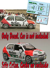 Decal 1:43 Jose Maria Ponce - RENAULT CLIO - Rally Adeje 1994