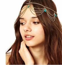 New Fashion Boho Women Crown Hair Cuff Chain Tassels Bohemian Headband Headpiece
