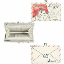 Disney Little Mermaid Ariel Flounder Postcard Kisslock Hinge Accordion Wallet