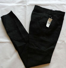 Polo Ralph Lauren 100% linen Black chino Pants talla 30 Made in Italy