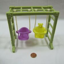 FISHER PRICE Loving Family Dollhouse DOUBLE SWING w/ MONKEY BARS Playground Rare