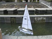 "1991 Mini Transat Race Floating  Sailing Model Boat 24"" Ready To Run RC Yacht"