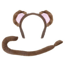 Childrens Monkey Fancy Dress Costume Set Kit Animal Ears & Tail - Book Week Day