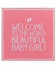 HAPPY Jackson CARD: benvenuto BELLA BABY GIRL-NUOVO in Cello (gf808b)