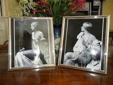 VINTAGE ART DECO NAKED LADY SILVER PLATE GLASS PICTURE PHOTO FRAME FREE SHIPPING