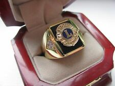 "Superb NEW! Mens Gold ""LIONS CLUB"" Crest Ring *"