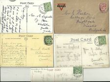 1912/17  5 x SALISBURY MILITARY CAMP POSTMARKS ON PPCs & 1 YMCA COVER  WILTSHIRE