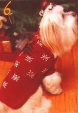 Christmas snowflake dog coat knitting pattern 99p
