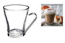 Confezione 3 bicchieri tazze mug da bar tisane latte macchiato con supporti inox