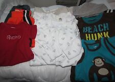 Lot of 9 boy 6M 3-sleepers 3-rompers 1-body suit 2-shorts Carter Oshkosh GUC