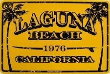 Laguna Beach since 1976 California Surfing Aluminum Sign