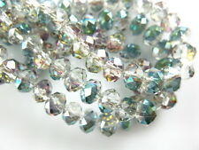 Bulk 200Ps Hot Colorized Crystal Glass Faceted Rondelle Bead 4mm Spacer Findings