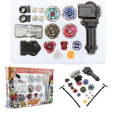 Beyblade Metal Masters Fusion Rotate Rip cord Launcher Rapidity Fight Battle Set