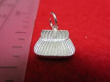 STERLING SILVER PLATED FISH BAG ABOUT 3/4 INCH CHARM PENDANT- SA51